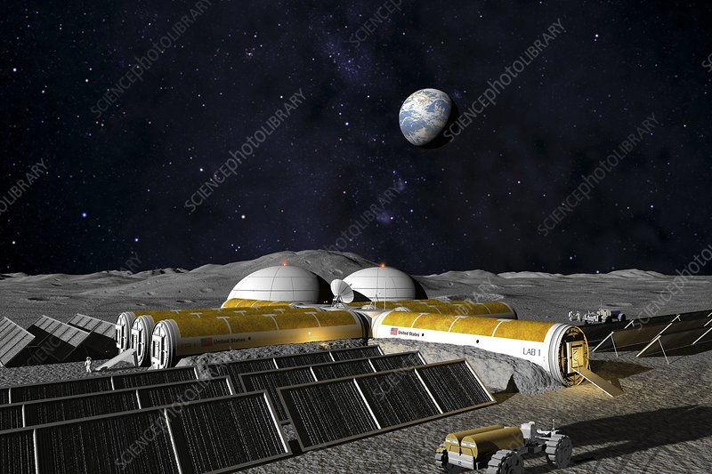 Moon base, computer artwork